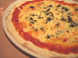 高菜とじゃこのピッザ