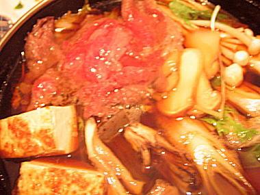 松茸と牛肉のすき焼き