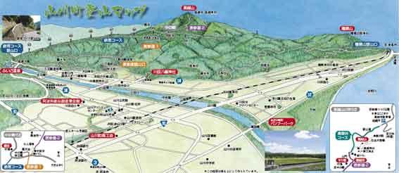 山川町登山マップ-2♪