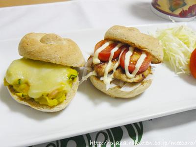 ハンバーガー風サンドイッチ