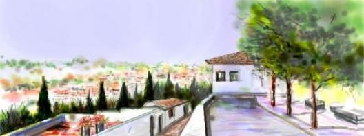 Una vista del Mirador de Albaicin, Granada