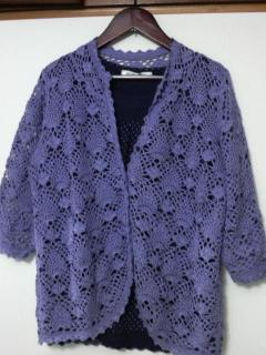 カーデ紫3