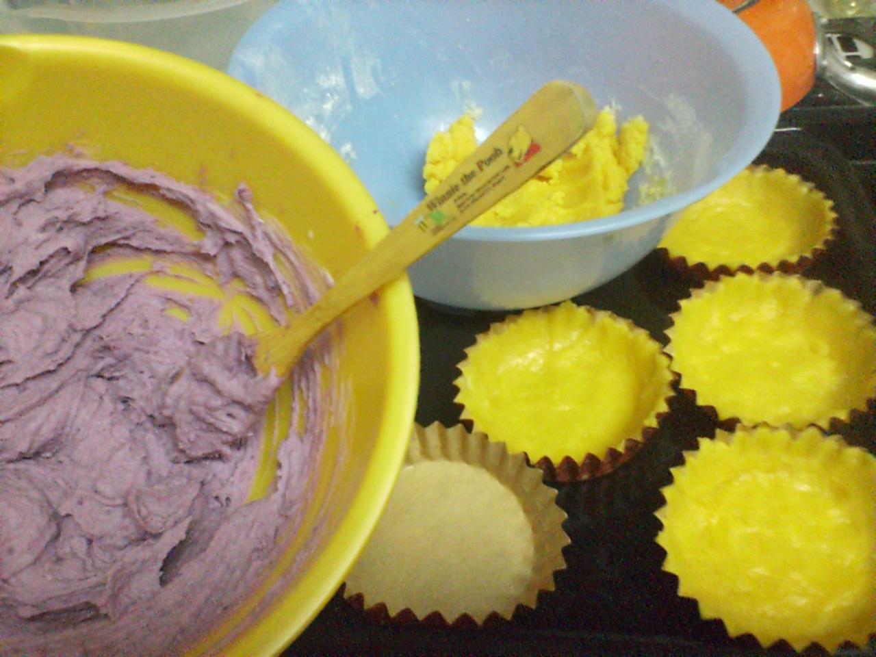 紫いものタルト