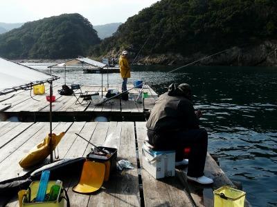 初めての筏釣り
