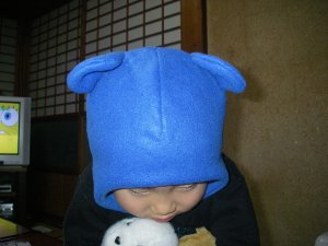 フライングキャップ(耳あて付き帽子)2号・・・熊耳バージョン