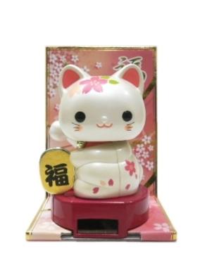 ソーラー招き猫・桜