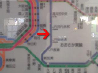 JRおおさか東線路線図