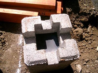 防振・防水を狙ってポストの入る穴にゴム板を敷く