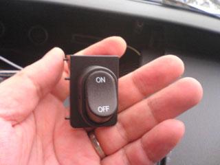 車速検知をON-OFFするスイッチ